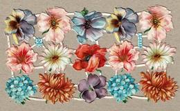 Albrecht & Meister A. Radicke 6239 - SCRAP -  DECOUPIS  - Gaufré / Embossed - Flowers - 2 Scans - Flowers