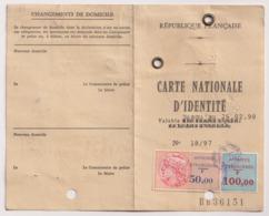 FRD18003 France 1997 Alexandria Consulat National ID Card Carte Nationale D'identité / Affaires Etrangeres Revenues - Historical Documents