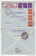 EGS14446 Egypt 1937 Airmail Cover Tied Nice Combination Of Definitive K. Fouad / Port Tawfiq Alexandria Roma France - Egypt