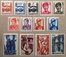 Sarre Série De 1948, Numéro 231 à 243 (Y & T), Timbres Neufs *. Cote 35 Euros, Trace De Charnière . - Neufs