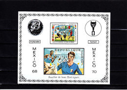 Soccer World Cup 1970 - CHAD - S/S Imp. Gold Ovp MNH - 1970 – Mexique