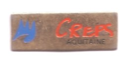 G418 Pin's Creps Aquitaine Bordeaux-Talence Centre D'Education Populaire Et De Sport Achat Immédiat - Pin's