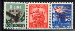 ITALY, (TRIESTE), SET, NO.'S 30-32, MNH - 7. Trieste