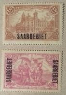 Sarre,1920, Numéro 47 Et 48 (Y & T), Timbres Neusf *. Cote 12,85 Euros, Charnière . - 1920-35 Société Des Nations