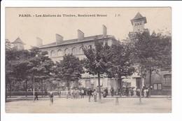 Lot 3 Cpa - PARIS - Manufacture, Ateliers, Imprimerie De Timbres. Boulevard Brune (voir Scans) - Arrondissement: 14