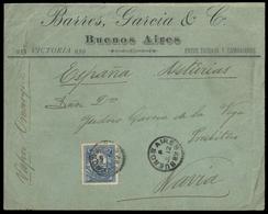 1885, Argentinien, 49 A, Brief - Argentine