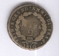2 Grana Joachim Murat 1810 - Royaume Des Deux Siciles - TB+ - 1878-1900 : Umberto I