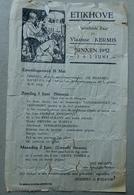 Vlaamse Kermis Etikhove 1952 - Programmes