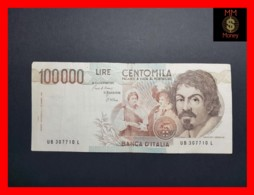 ITALY 100000  100.000 Lire  1985  P. 110 Serie B  VF - 100000 Liras