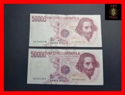 ITALY 50000  50.000 Lire 1984  1985  P. 113  Serie BA - BB  Couple  VF - [ 2] 1946-… : Repubblica