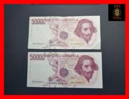 ITALY 50000  50.000 Lire 1984  1985  P. 113  Serie DA - DB  Couple  VF - 50000 Lire