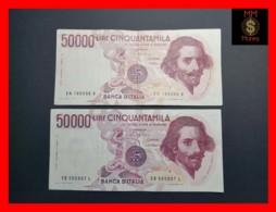 ITALY 50000  50.000 Lire 1984  1985  P. 113  Serie EA - EB  Couple  VF - [ 2] 1946-… : Repubblica