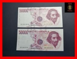 ITALY 50000  50.000 Lire 1984  1985  P. 113  Serie GA - GB  Couple  VF - 50000 Lire