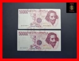 ITALY 50000  50.000 Lire 1984  1985  P. 113  Serie HA - HB  Couple  VF - [ 2] 1946-… : Repubblica