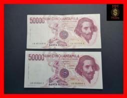 ITALY 50000  50.000 Lire 1984  1985  P. 113  Serie LA - LB  Couple  VF - 50000 Lire