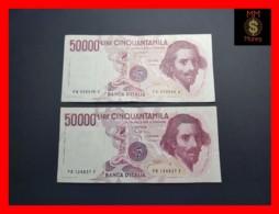 ITALY 50000  50.000 Lire 1984  1985  P. 113  Serie PA - PB  Couple  VF - 50000 Lire