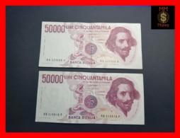 ITALY 50000  50.000 Lire 1984  1985  P. 113  Serie RA - RB  Couple  VF - 50000 Lire