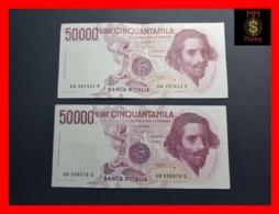 ITALY 50000  50.000 Lire 1984  1985  P. 113  Serie UA - UB  Couple  VF - 50000 Lire