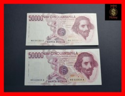 ITALY 50000  50.000 Lire 1984  1985  P. 113  Serie WA - WB  Couple  VF - 50000 Lire