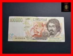 ITALY 100000  100.000 Lire  1994  P. 117 Serie AA  VF - 100000 Liras