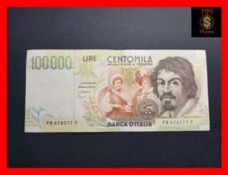 ITALY 100000  100.000 Lire  1995  P. 117 Serie B  VF - [ 2] 1946-… Republik