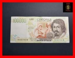 ITALY 100000  100.000 Lire  1995  P. 117 Serie B  VF - 100000 Liras