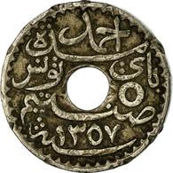 Monnaie, Tunisie, Ahmad Pasha Bey, 5 Centimes, 1938, Paris, TB+, Nickel-Bronze - Tunisie