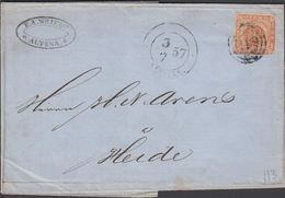 1857. 113 + ALTONA 3 7 57 To Heide.  4 S KGL POST FRIM. E.A. WRIEDT ALTONA () - JF321200 - 1851-63 (Frederik VII)