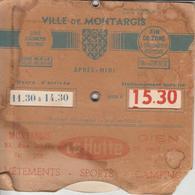 """DISQUE De STATIONNEMENT  Magasin """" LA HUTTE """"   MONTARGIS  ( Loiret ) - Oude Documenten"""