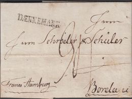 1794. DÆNNEMARK To Bordeaux Via Hamburg From Copenhagen.  Postage Marking 90. Franco ... () - JF321224 - Danimarca