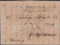 1828. DANEMARK PAR HAMBOURG + TTR4 To Bordeaux From Copenhagen. Transit Cancel. Posta... () - JF321226 - Danimarca