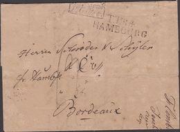 1828. TTR4 HAMBOURG + Allemagne P. Givet To Bordeaux From Flensburg. T Postage Markin... () - JF321227 - Danimarca
