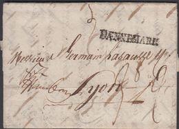 1800. DÆNNEMARK To Lyon Via Hamburg From Flensburg.  Postage Markings. Franco Hamburg... () - JF321236 - Danimarca