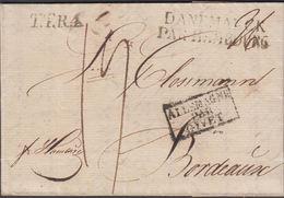 1822. TTR4 + DANEMARCK PAR HAMBOURG + ALLEMAGNE PAR GIVET To Bordeaux From Copenhagen... () - JF321237 - Danimarca
