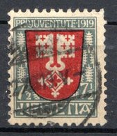 SUISSE - (Postes Fédérales) - 1919 - N° 173 - (Pour La Jeunesse. Armoiries Des Cantons) - Usati