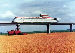 L'Aérotrain Interurbain 'Orleans' I-80  -   15x10cms PHOTO - Trains