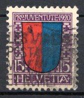 SUISSE - (Postes Fédérales) - 1920 - N° 178 - (Pour La Jeunesse. Armoiries Des Cantons) - Usati