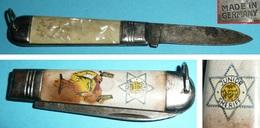 Petit Couteau De Poche Pliant JUNIOR SHERIFF, Plaquettes Plastique, Germany - Outils