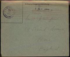 Germany WWI Camp Freiburg POW UK Britain England British War Cover 96628 - Briefmarken