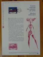 Centre National Costume De Scène Moulins 03 Allier Document Officiel FDC Folder 2016 With Proof And Stamp - Documenti Della Posta