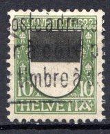 SUISSE - (Postes Fédérales) - 1922 - N° 189 - (Pour La Jeunesse. Armoiries Des Cantons) - Usati