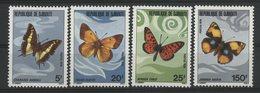 DJIBOUTI N° 477 à 480 COTE 10 € NEUFS ** MNH SERIE DE QUATRE EXEMPLAIRES . PAPILLONS .TB - Butterflies