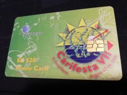 ST KITTS & NEVIS  $20,CARIFESTA LIMITED EDITION CHIPCARD **351 ** - St. Kitts & Nevis