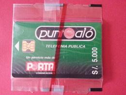 ECUADOR ECU PO 01 Punto Alo Green Porta Puntoalo MINT S/. 5000 Blister Folder Equateur NSB (CB1217 - Equateur