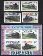 Tanzania 1985 / Locomotive, Railway, Train / MNH - Trenes