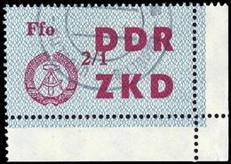 1964, DDR Verwaltungspost C Laufkontrollzettel ZKD, 35 Ecke, Cto - [6] République Démocratique