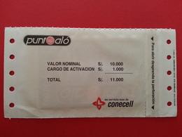 ECUADOR ECU CO 02 Punto Alo Conecell Puntoalo MINT S/. 10000 Blister Folder Equateur NSB RRR (CB1217 - Equateur