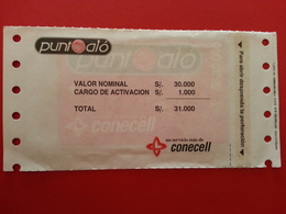 ECUADOR ECU PO 3 Punto Alo Conecell Puntoalo MINT S/. 30000 Blister Folder Equateur NSB RRR (CB1217 - Equateur