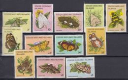 Cocos Islands 1982 Butterflies, 12 Stamps From Set Mi#88-103 Mint Never Hinged - Kokosinseln (Keeling Islands)