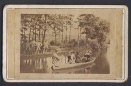 71 SAINTE CROIX 1880 Vue Sur Le Bief De Tagiset Solnan Photo Originale 6 X 8.5 Cm Moulin Sixdenier - Photos
